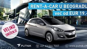 Putnik Travel: Bei uns Rent-a-Cars in Belgrad schon ab CHF 19.-!