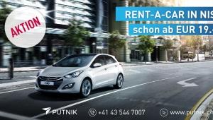 Aktion: Rent-a-Car auch in Nis schon ab 19.- EUR!