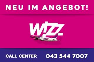 Neu in unserem Angebot: Wizz Air Flugtickets für die Flüge von Basel nach Nis!